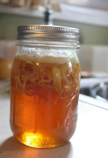 sirop de miel et d'oignon