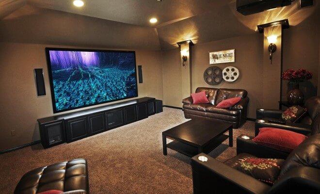local bien adapté à la salle de cinéma